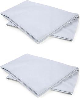 くーる&ほっと 2枚組 まごころ防水シーツ 日本製 介護・子供用 電気毛布OK (サックス(ブルー)2枚)