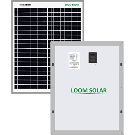 LOOM SOLAR 20 Watt - 12 Volt Solar Panel for Home Lighting & Small Battery Charging