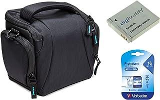 Funda para cámara de repuesto negra + batería de repuesto NB-6L + tarjeta SD de 16GB para Canon PowerShot SX520 HS SX530 HS SX540 HS