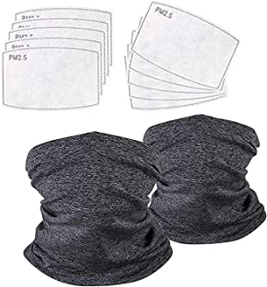 Midi Ribbon 2 Neck Gaiter Bandanas with 10 Safety Filters for Men and Women