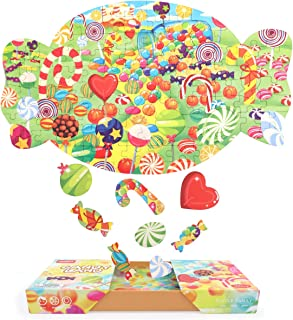 Nueplay Candy Jigsaw Puzzle Educational Learning Toys Intellectual Games for Kids Boys Girls Ages 6 7 8 9 10 Years Old Kid...