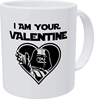 Willcallyou I'm Your Valentine Star Wars Darth Vader Heart Daddy For Him Husband, Boyfriend, Funny 11 Ounces White Coffee Mug to My Valentine Dating