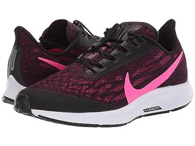 Nike FlyEase Air Zoom Pegasus 36 (Black/Pink Blast/True Berry/White) Women