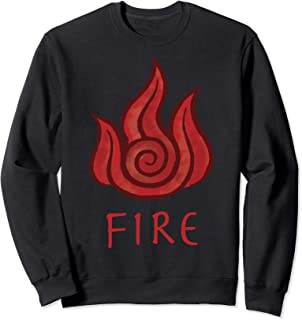 Avatar The Last Airbender Painted Fire Element Sweatshirt