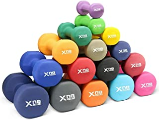 XN8 Neoprene Dumbbell Set of 2 Hand Weights, Non-Slip, Anti-roll, Hex Shape, Free Weight Set for Muscle Toning, Strength B...