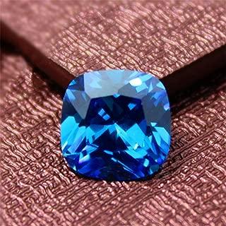 Light Blue Sapphire Square Faceted Gemstone Cushion Cut Sapphire Gem 10X10mm C68S