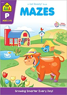 School Zone - Mazes Workbook - Ages 3 to 5, Preschool to Kindergarten, Fine Motor Skills, Attention to Detail, Observation, Illustrations and More (School Zone Get Ready!™ Book Series)