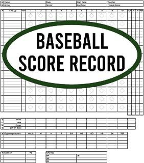 Baseball Score Record: 120 Pages Baseball Score Sheet, Baseball Scorekeeper Book, Baseball Scorecard