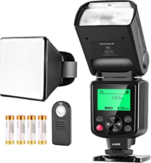 Neewer 750II TTL Speedlite Flash Kit for Nikon with IR Wireless Remote Control,AA Battery,Diffuser for Nikon D7200 D7100 D...