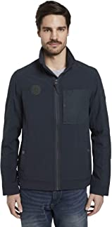 TOM TAILOR Men's jackets and jackets, modern jacket in material mix.