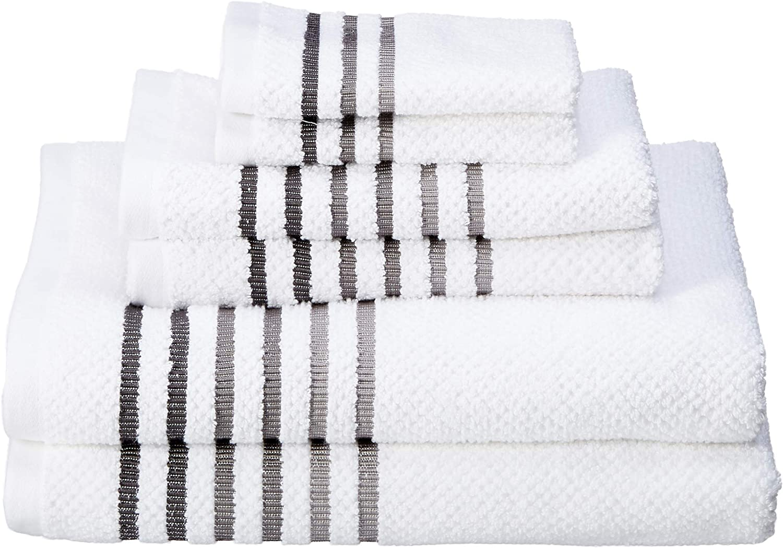 Caro Home Maggie 6 pc Towel Sets (White Caviar)