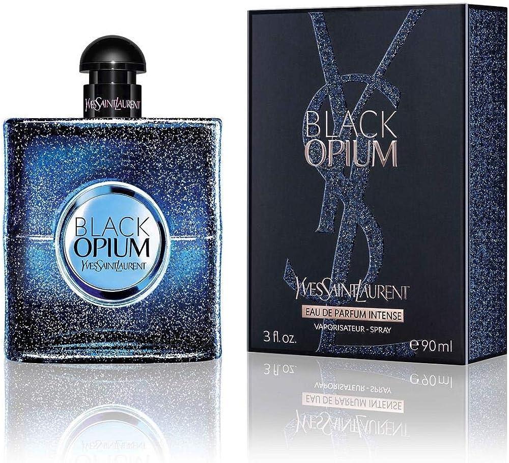 Yves saint laurent black opium intense, eau de parfum ,profumo per donna,90 ml 3614272443716