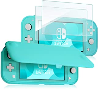 ProCase Flip Cover Compatible with Nintendo Switch Lite with 2 Pack Tempered Glass Screen Protectors, Slim Protective Flip...