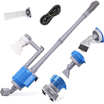 Upettools Aquarium Gravel Cleaner - Electric Automatic Removable Vacuum Water Changer Sand Algae Cleaner Filter Changer 110V/28W
