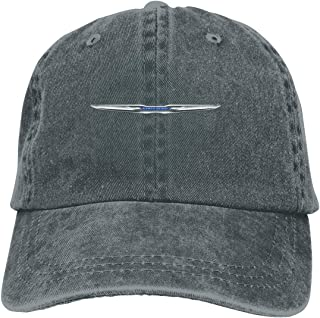 NICOTE Design Print Casual Dad Hat Chrysler Logo FCA Classic Baseball Cap