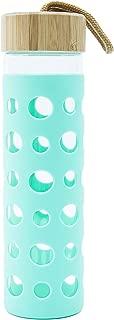 Smash Fashion Glass Bottle Silicone Teal