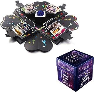 Lypumso Explosion Box Scrapbook Creative DIY Photo Album, Caja de Regalo Creative Explosion, Regalo romántico y Sorpresa para su Amante/mamá/Amigo/niños (con Pegatinas)