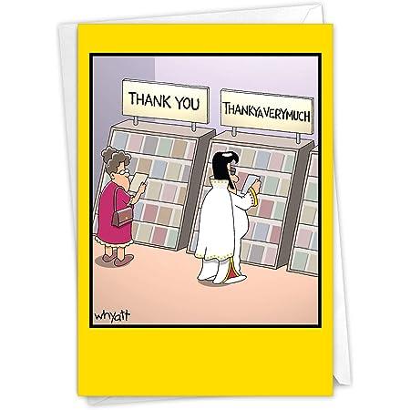Cute Appreciation Card Moody Cow Thank You Card Funny Cartoon Card Moocho Grassy Ass