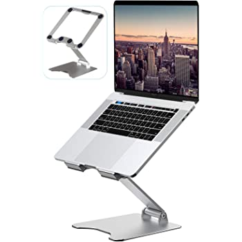 "Laptop Stand, VMEI Aluminum Laptop Riser, Ergonomic Laptops Elevator for Desk, Laptop Holder Compatible with MacBook Pro Air, Lenovo, HP, Dell, All10-15.6 Inch Laptop,Raise 13.8"" Height-Silver"