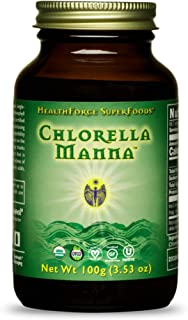 HealthForce SuperFoods Chlorella Manna Powder - 100 Grams- Freshwater Alga Supplement, Supports Detoxification, Antioxidan...