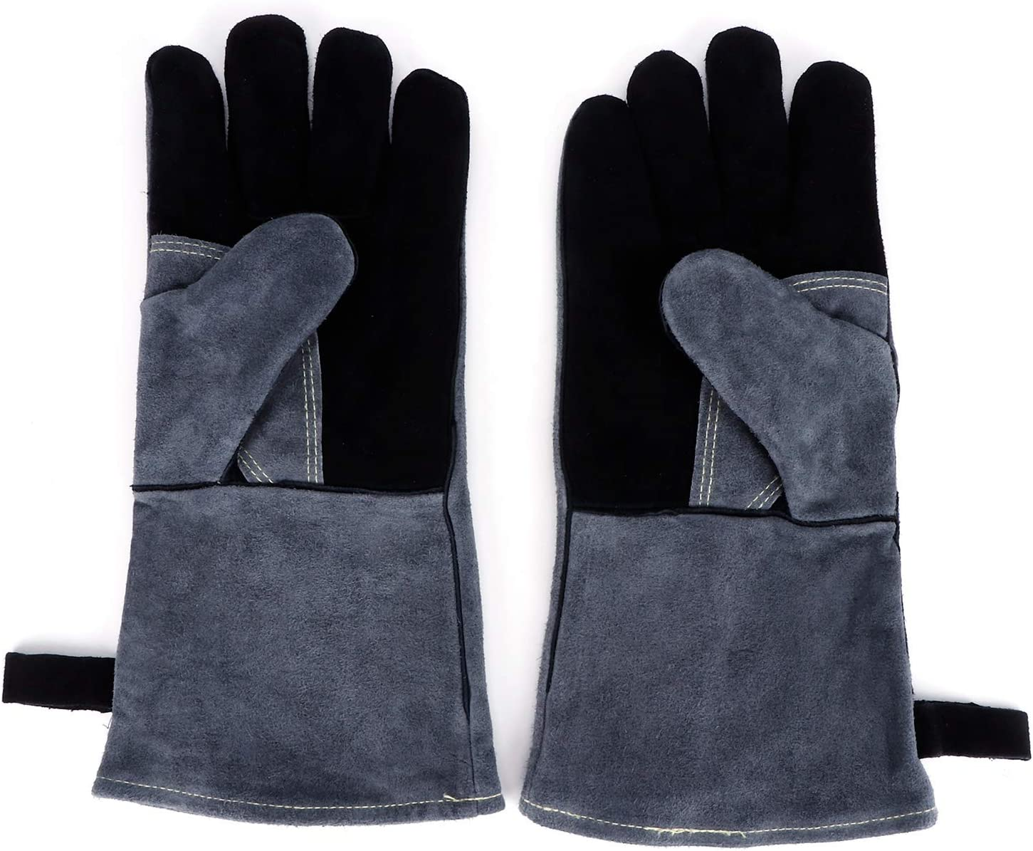 Import Hineges Leather Forged Ranking TOP6 Welding Gloves Heat fire Resistant Gri