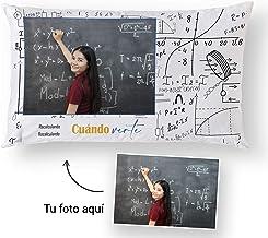 Fotoprix Cojín Personalizado con Foto para Regalar a Tus Compañeras del Colegio | Regalo Original Amigas | Varios diseños y tamaños (Ganas de Verte, 30 x 50 cms)