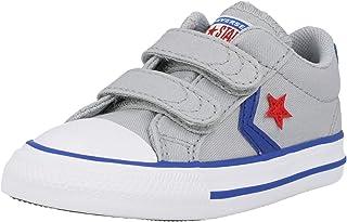 Converse Star Player 2V Ox Gris/Bleu (Wolf Grey/Blue) Coton Bambin Formateurs Chaussures
