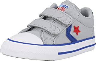 Converse Star Player 2V Ox Gris/Bleu (Wolf Grey/Blue) Coton Bambin Formateurs Chaussures