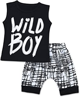 11714aa316b5 Baby Boys Clothes Set Wild Boy Long Sleeve T-Shirt Tops and Pants Outfits  Spring