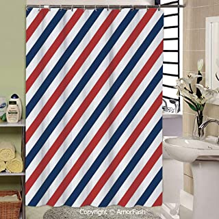 SCOCICI Harbour Stripe,Bathroom Shower Curtain Funny Quotes Shower Curtains,69