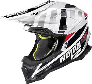 Nolan N53 Cliffjumper Motocross Helm Weiß/Schwarz/Rot XXXL 64