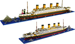 dOvOb Micro Mini Blocks Titanic Model Building Set with 2 Figure, 1872 Piece Mini Bricks Toy, Gift for Adults and Kids