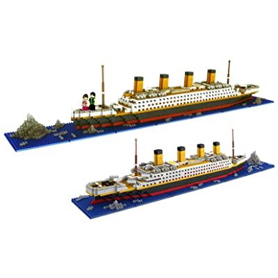 dOvOb Nano Blocks Titanic Model Building Set wi...