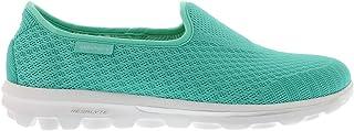 Skechers 女式健走鞋包脚设计混纺轻质一脚蹬运动鞋