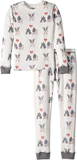 P.J. Salvage Kids - Dogs Hearts Two-Piece Jammies Set (Toddler/Little Kids/Big Kids)