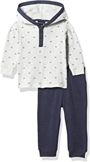 Calvin Klein Baby Boys' 2 Pieces Bodysuit Pants Set