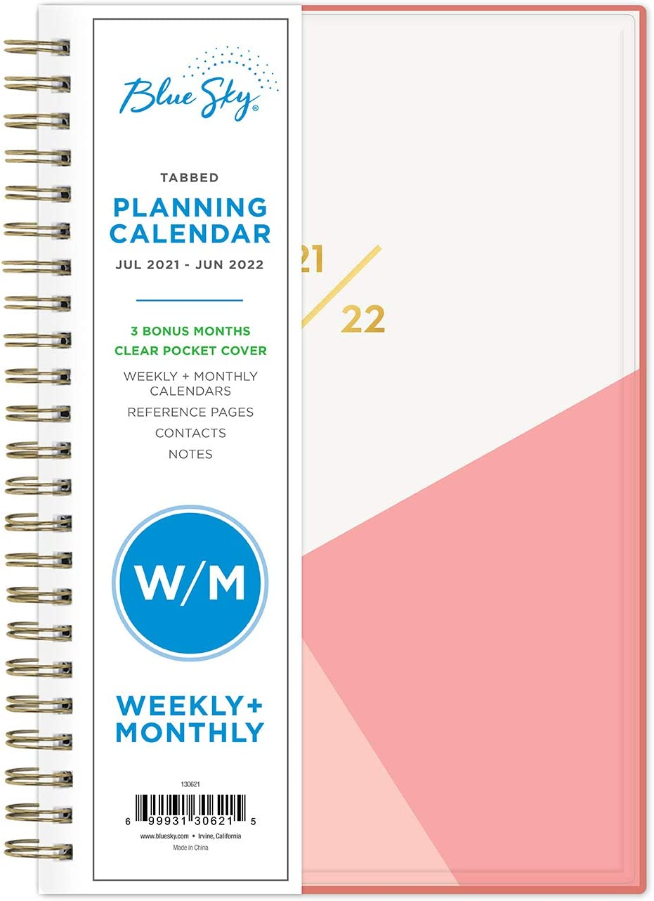 Blue Sky 2021-2022 Academic Year Weekly & Monthly Planner, 5