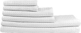 Gilden Tree 100% Natural Cotton Classic Waffle Weave Bath Towel Set (White)