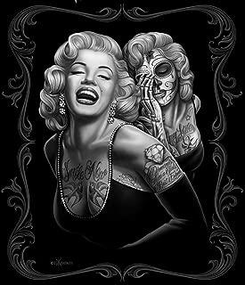 Black Chicano Marilyn Monroe Smile Now Cry Later Fleece Throw Blanket