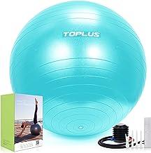 Topplus Gymnastiekbal, extra dikke yoga-bal-stoel, anti-barst-stabiliteitbal voor hoge belasting, balansbal met snelpomp, ...