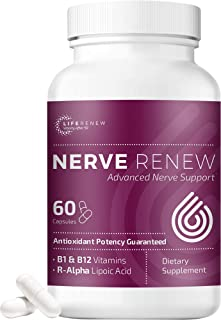 Life Renew: Nerve Renew Advanced Nerve Support - Alternative Nerve Pain Treatment with Alpha Lipoic Acid an...