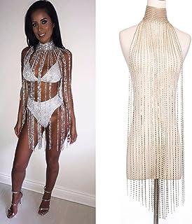 DAY.LIN Schmuck Damen Körperkette Frauen Nachtclub Party Körper Kette Schmuck Bikini Taille Gold Bauch Strand Harness (Silver)