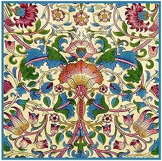 Orenco Originals Wm Morris Blue Pink Lodden Design Flower Design Counted Cross Stitch Pattern