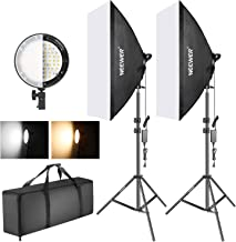 Neewer Photography Bi-color Dimmable LED Softbox Lighting Kit:20×27 inches Studio..