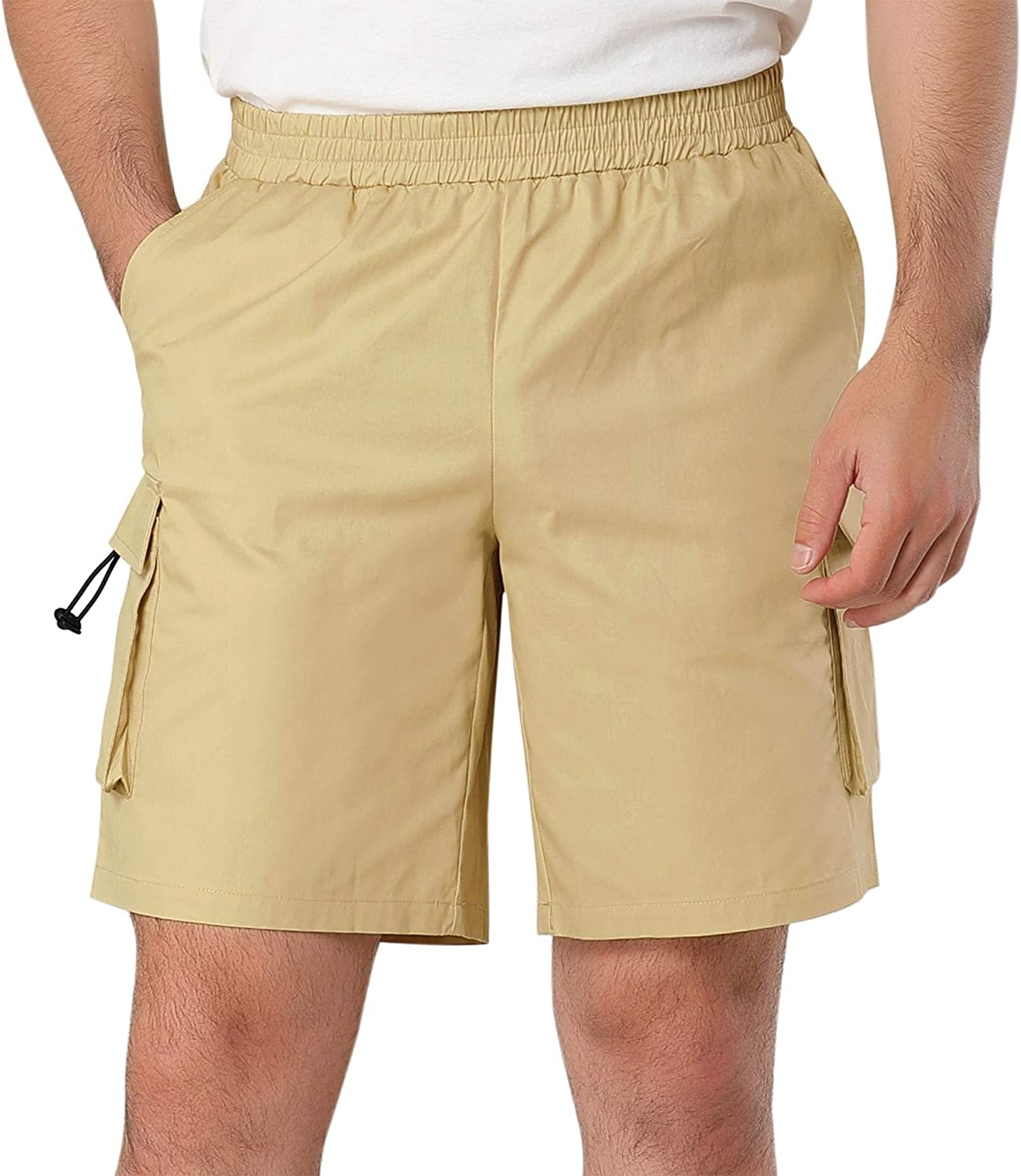 Lars Amadeus High quality new Men's Outdoor Short Classic Fit Summer Cotton Max 66% OFF Pants