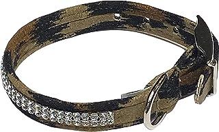 "Glamour Girl 2 row Collar, Leopard XS 7""-8 1/2"""