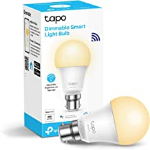 TP-Link Tapo Smart Bulb, Wi-Fi Smart Switch, B22, 8.7 W, Compatible with Alexa (Echo and Echo Dot), Google Home, Dimmable ...