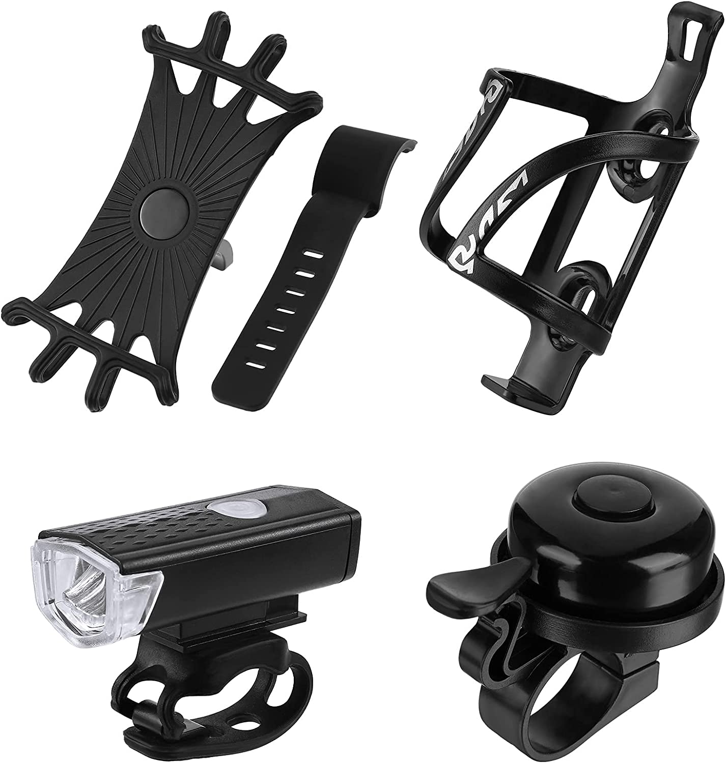 4 Pieces Bicycle Accessories Set USB Rechargeable Bike shop Light Brand new Ex