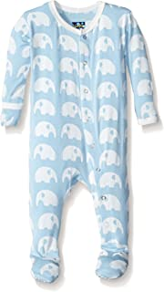 KicKee Pants Print Footie with Snaps (0-3 Months,...