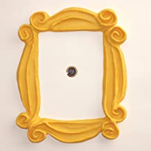 Handmade with Love by Fatima. As seen in Monica's Door. It has Two Side Tape in the back. Handmade. Yellow Frame for your peephole. Present for your best friends.